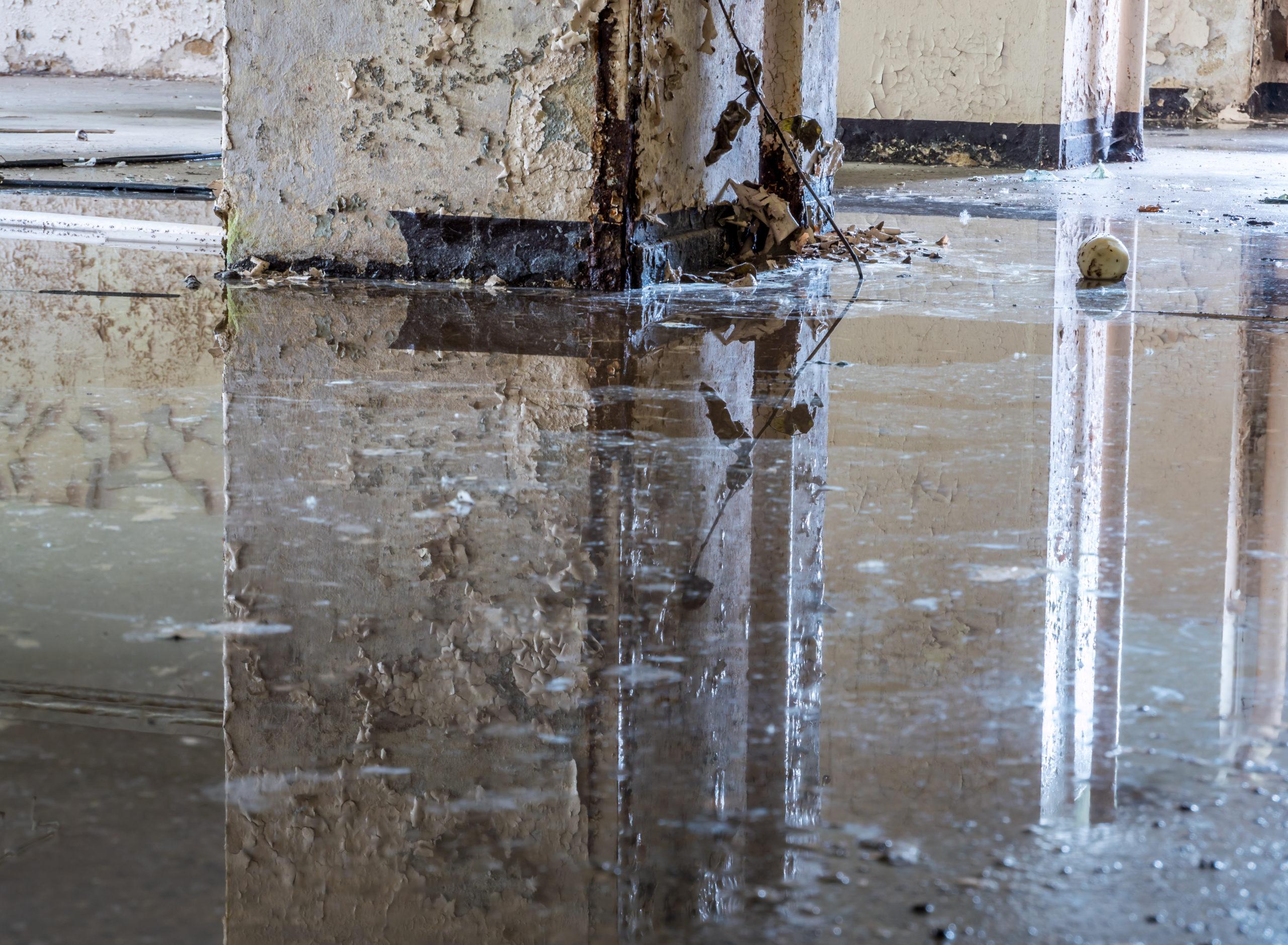 Hochwasserschaden im Keller nach einem Unwetter