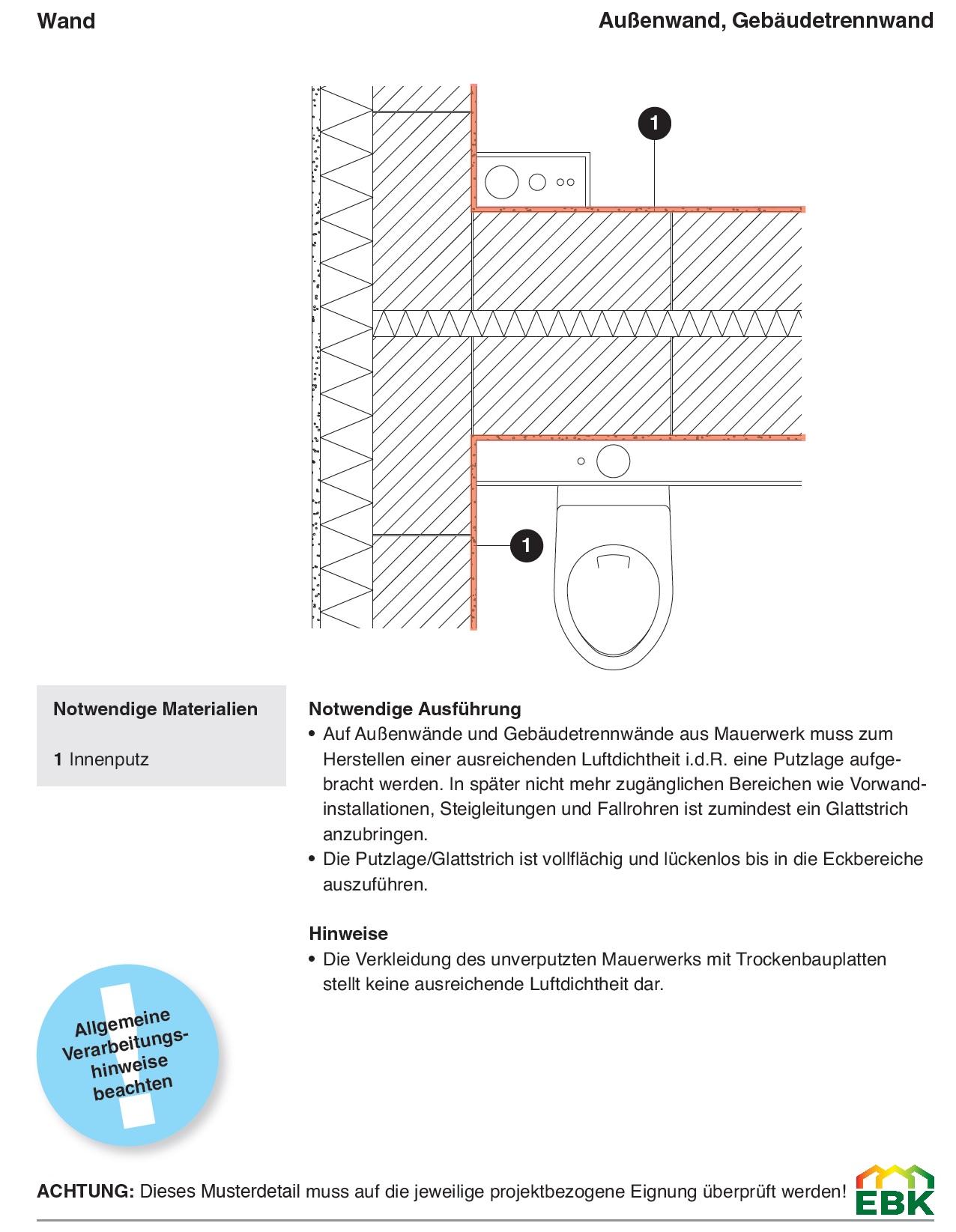 Anschluss Außenwand, Gebäudetrennwand